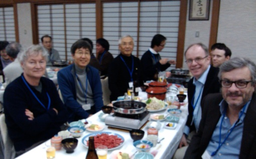 Table dinner with Michael Gratzel, Nam-Gyu Park, Sozo Yanagida, Anders Hagfeldt and the author.