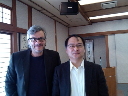 Organizer Hirosi Segawa and the author