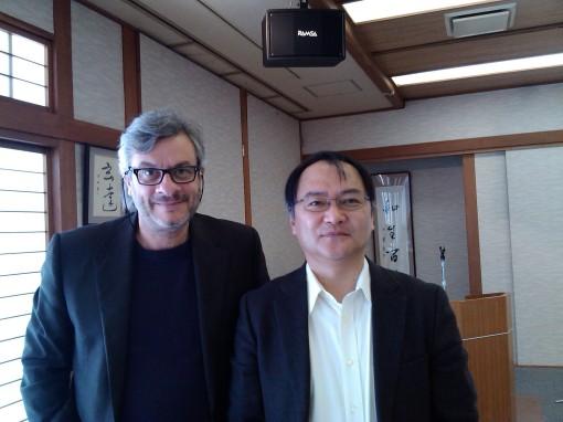 Organizer Hirosi Segawa and the author