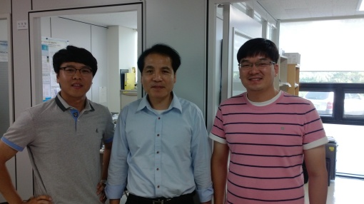 KRICT researchers Nam Joong Jeon, Sang Il Seok and Jun Hong Noh, authors of the 17.9% perovskite record solar cell